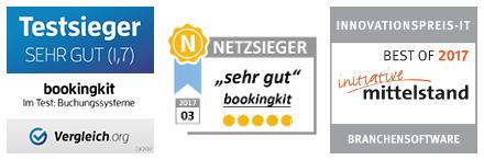 bookingkit ist mehrfach ausgezeichnet